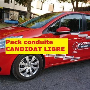 Pack formation CONDUITE+ EXAMEN CANDIDAT-LIBRE