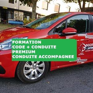 Formation CODE + CONDUITE PREMIUM - Permis conduite accompagnée (AAC)